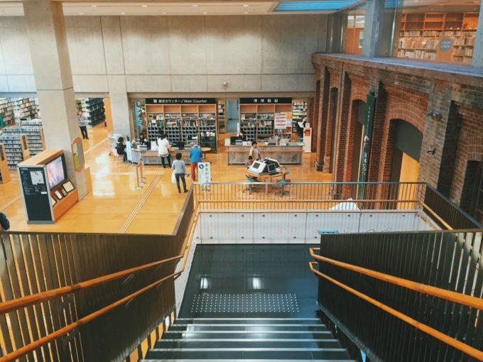 北区中央図書館 内観